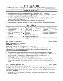 resume office management