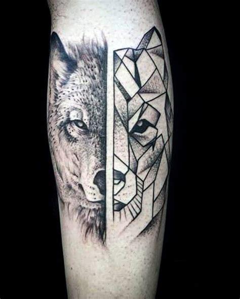 tattoo arm zum anziehen geometrische 90 wolf tattoo designs f 252 r m 228 nner manly ink