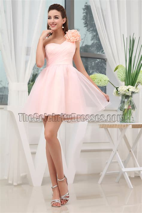 Dress Ghifa Pink 1 pink one shoulder homecoming sweet 16 dresses thecelebritydresses