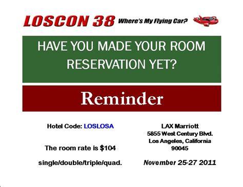 Reservation Reminder Letter Loscon 38