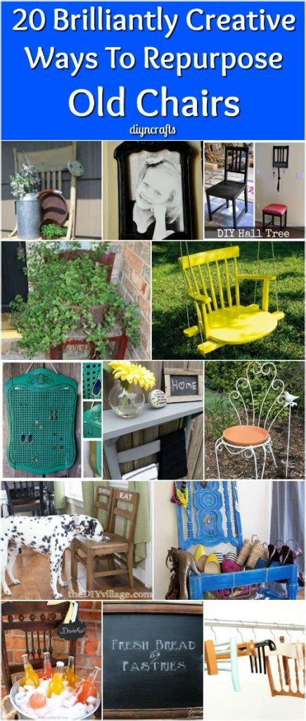 13 creative ways to repurpose old chairs repurposed 20 brilliantly creative ways to repurpose old chairs