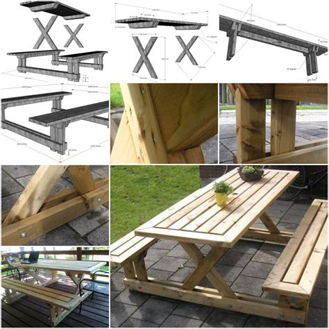 how to make a table bench how to make garden bench and table step by step diy