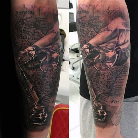 scroll tattoo designs for men 60 scroll tattoos for manly paper design ideas
