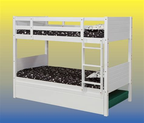 King Single Bunk Bed Jupiter White King Single Bunk Beds With Trundle Bed