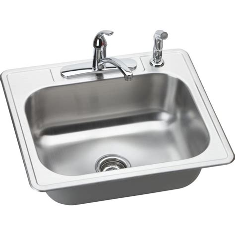 single bowl kitchen sink top mount elkay dse12522 dayton elite stainless steel single bowl
