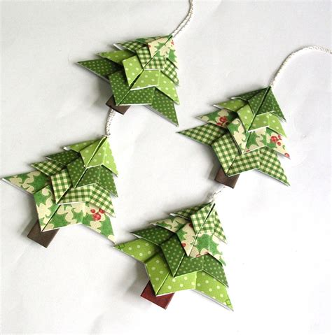 Origami Tree Ornaments - neat origami decorations 2016