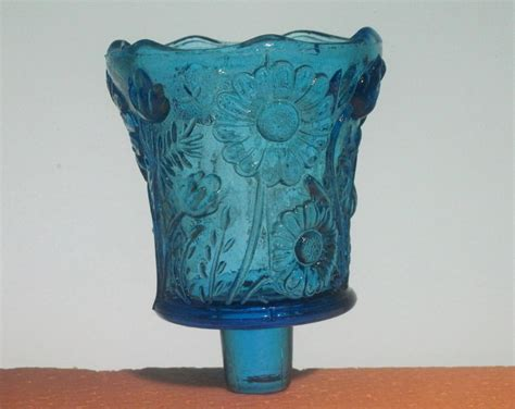 home interiors peg votive candle holder bright blue