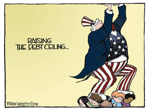debt ceiling political cartoons government default or raise the debt ceiling the u s