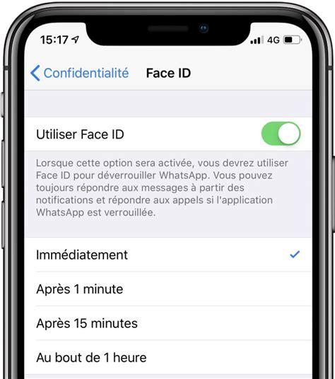 aie la protection biom233trique de whatsapp sur ios pas