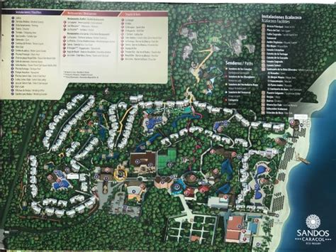 eco resort map map of the resort picture of sandos caracol eco resort
