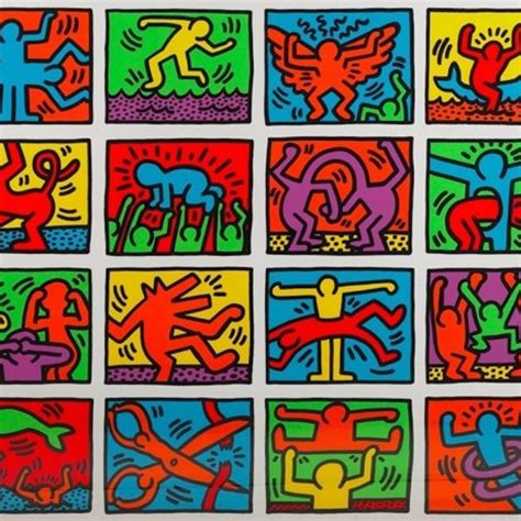 Haring Artwork by Retrospect By Keith Haring Guy Hepner