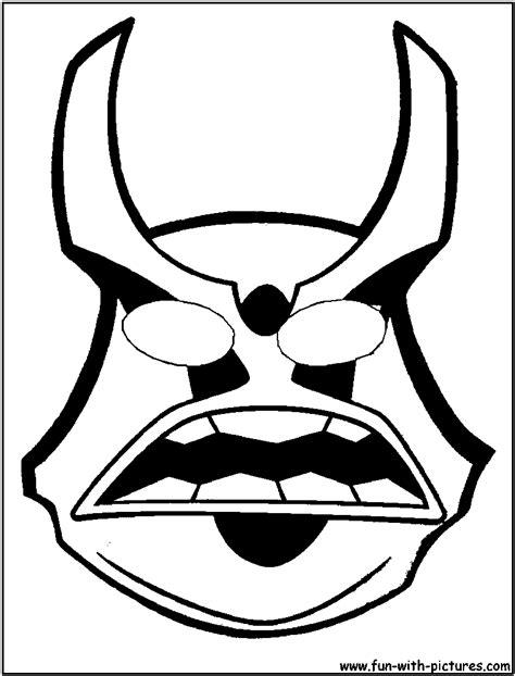 ninja mask coloring pages ninja mask coloring pages