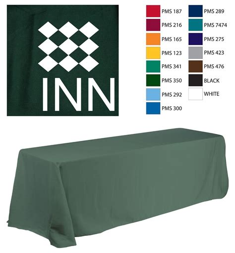 custom table covers custom table covers printed using 1 vinyl color