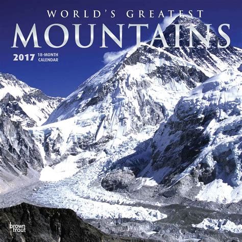 Calendar 2018 Mountains Mountains Worlds Greatest Calendars 2018 On Europosters