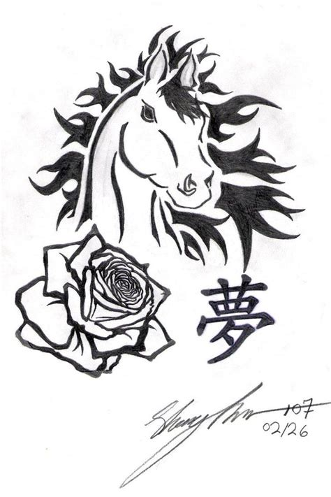 horse and rose tattoos 214 best tattoos images on tattoos