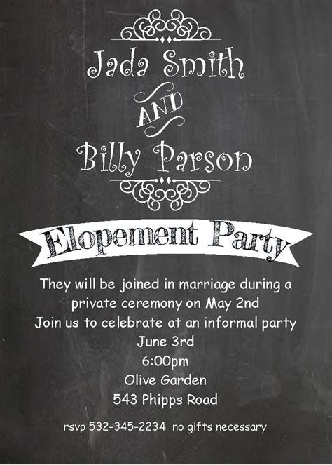 Wedding Announcements After The Wedding by After The Wedding Invitations Or Elopement