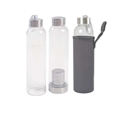 glass tumbler with pouch