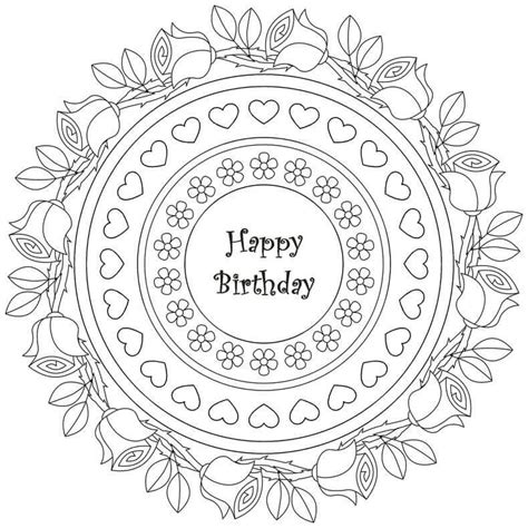 coloring pages for adults birthday 25 free printable happy birthday coloring pages