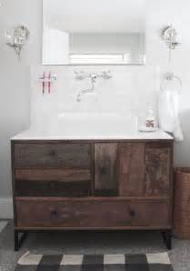 marvelous modern reclaimed wood bathroom vanity from