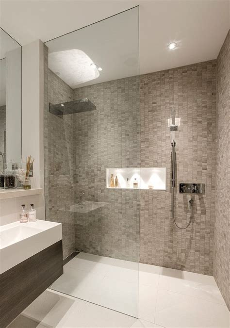 Modern Basement Bathroom Ideas Walk In Showers Designs Bathroom Contemporary With