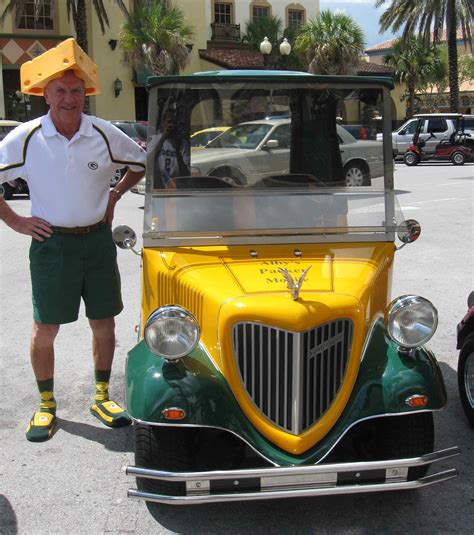 golf cart fans die hard packers fan alby zellner was at famed ice bowl