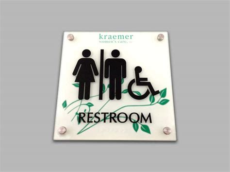 custom bathroom signs ada restroom signs ada bathroom signs unisex signs