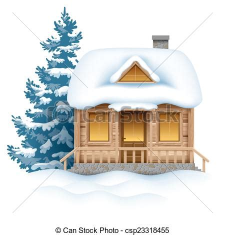 Small House Plans Free by Clipart Vector Of Winter House Cute Wooden House In Snow
