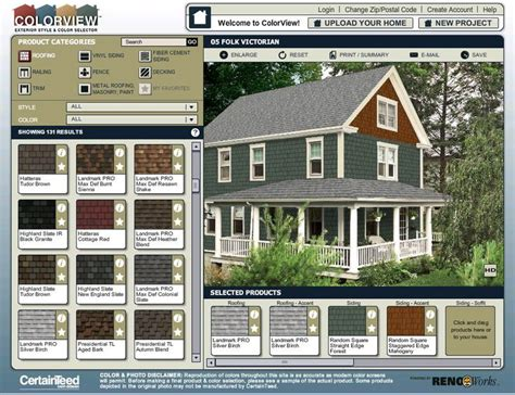 colorview exterior style and color visualizer quot try out different color combinations for siding