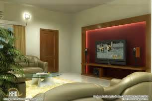 beautiful living room rendering kerala home design and floor plans - Interior Design Livingroom
