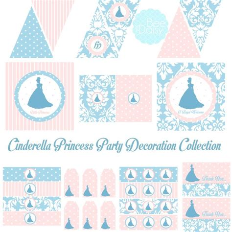 cinderella printable party decorations 44 best halle s cinderella baby shower images on pinterest