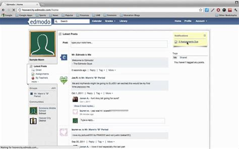 edmodo turn in assignments edmodo how to quot turn in quot an assignment youtube