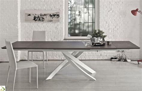 tavolo per cucina allungabile tavolo allungabile artistico di bontempi arredo design