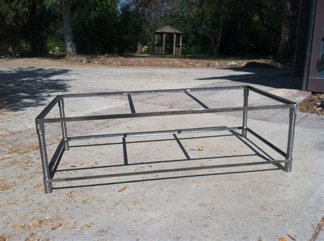 coffee table steel frame santaconapp
