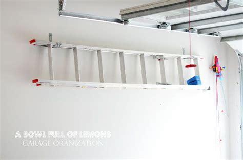 Ladder Storage Ideas In Garage 1000 Images About Ladder On Storage Solutions