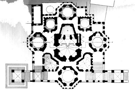Floor Plan Of Cathedral St Basil S Floor Plan By Postnik Yakovlev