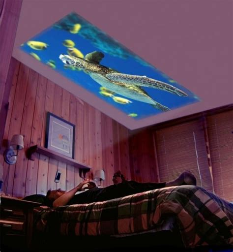 Project Onto Ceiling Big Screen Home Theater On The Bedroom Ceiling Diy For