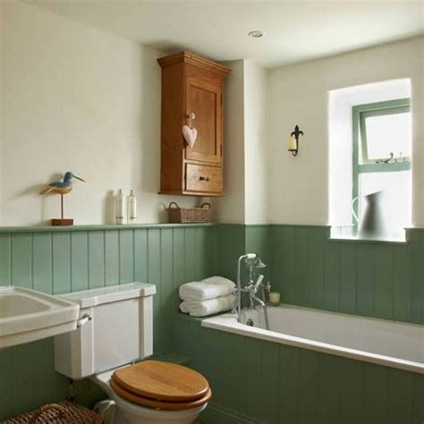 bathrooms  wainscoting green traditional bathroom