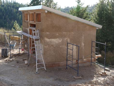 Straw Bale Shed Plans by Strawbale Power Shed Fiber In The Of An Angry Spinner