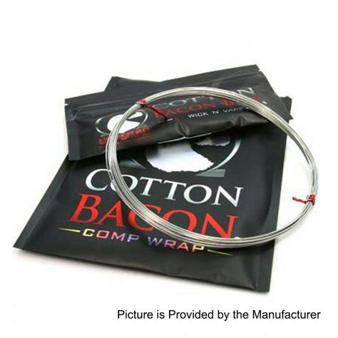 Cotton Bacon By Wick N Vape Authentic authentic wick n vape cotton bacon comp wrap 26awg heating wires