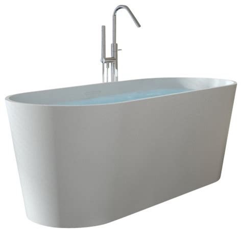 stone resin bathtub badeloft upc certified stone resin freestanding