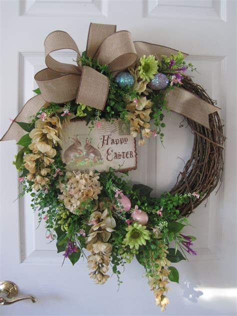 Easter Wreaths For Front Door Sale Easter Wreath Front Door Wreath Easter Bunny Pastel
