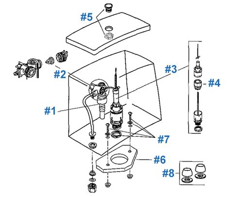 Eljer Faucet Replacement Parts by Eljer Canterbury Series Toilet Repair Parts