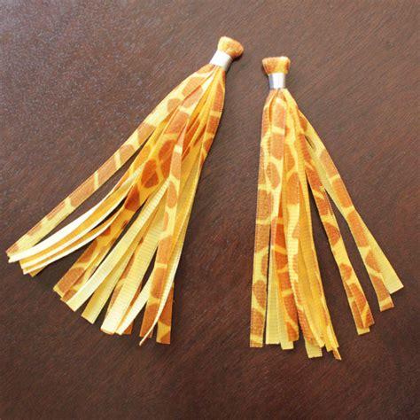 Anting Tassel Handmade Kode A 09 how to velvet ribbon tassel