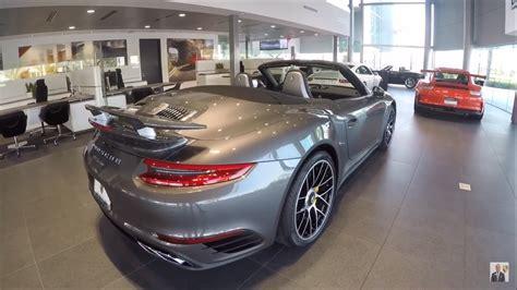 grey porsche 911 convertible 2017 agate grey porsche 911 turbo convertible 540 hp