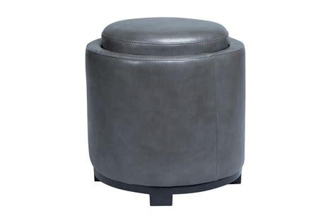 grey storage ottoman with tray at gardner white