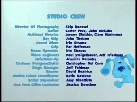 blue credits blue s clues blue s big vhs