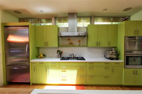 Kitchen Design Green Design White And Green Kitchen Interior With Quartz Countertop Home Design Decor Idea Home