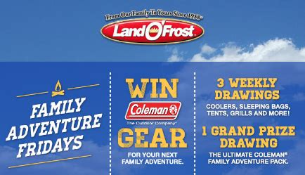 Land O Frost Sweepstakes - land o frost family adventure fridays sweepstakes win a family cing