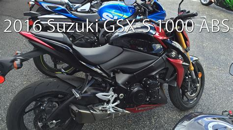 2016 Suzuki GSX S 1000 ABS Motorcycle Review   YouTube