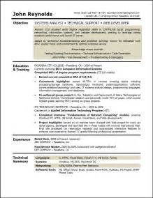 Career Objective Resume Exles by Resume Career Objective Sle